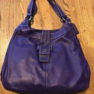 Large purple shoulder bag